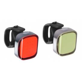 Bicycle light set ULTRATORCH CUBE, OXFORD (LED)