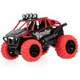 SURPASS STUNT Car RED 2WD, 360 ° turns on the rear, color LED, music module, DEMO, RTR