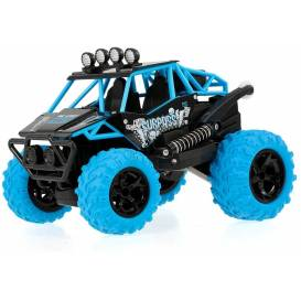 SURPASS STUNT Car BLUE 2WD, 360 ° turns on the rear, color LED, music module, DEMO, RTR