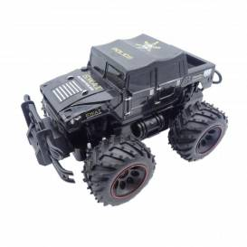 POLICE SWAT Rock Crawler Jeep 2 WD, 1:16, beatable construction, large bumpers, black