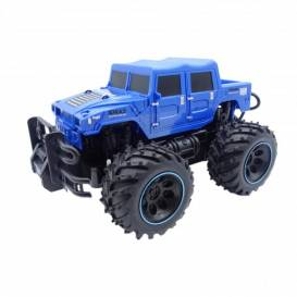 POLICE SWAT Rock Crawler Jeep 2 WD, 1:16, beatable construction, large bumpers, blue