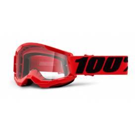 LOSS 2 100% - USA, children's glasses red - clear plexiglass