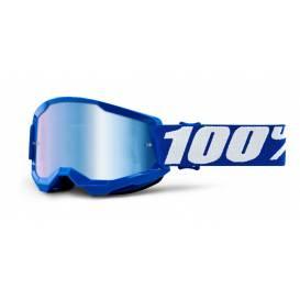 LOSS 2 100% - USA, children's glasses blue - mirror blue plexiglass