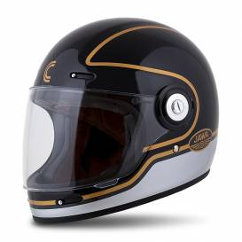 Fiber Jawa Sport Helmet, CASSIDA (black / silver / gold)