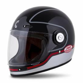 Fiber Jawa Sport Helmet, CASSIDA (black / silver / red)