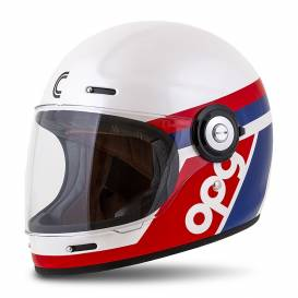 Fiber OPG helmet, CASSIDA (white / blue / red)
