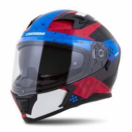 Integral 3.0 DRFT helmet, CASSIDA (pearl blue / red) plexiglass with preparation for Pinlock