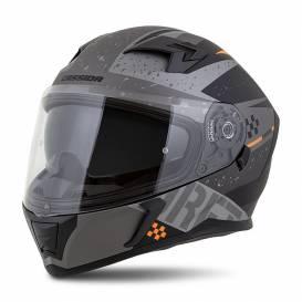 Integral 3.0 DRFT helmet, CASSIDA (matt gray / black / orange) plexiglass with preparation for Pinlock