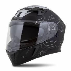 Integral 3.0 Hack Vision helmet, CASSIDA (matt black / gray / silver reflective) plexiglass with preparation for Pinlock