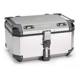 MONOKEY TopCase K-FORCE - 58L, KAPPA (silver, aluminum, 55,5x32,3x45,4)