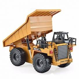 Tipper truck 4x4 1:18 with metal cabin 6 channels