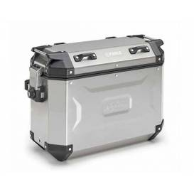 Set of side cases K-FORCE - 37l, KAPPA (silver, aluminum, 49,5x38,7x24,6 cm)