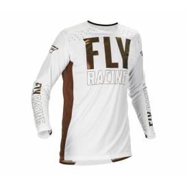 Jersey LITE 2021 LE, FLY RACING (white / bronze)