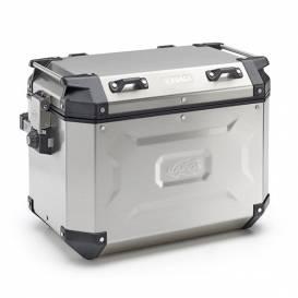 Side case K-FORCE - right, KAPPA (48l, silver aluminum, 49,5x38,7x30,6 cm)