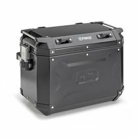 Side case K-FORCE - right, KAPPA (48l, black aluminum, 49,5x38,7x30,6 cm)