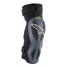 Knee pads SEQUENCE 2021, ALPINESTARS (anthracite / yellow fluo, pair)