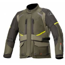 ANDES DRYSTAR 2021 Jacket, TECH-AIR 5 compatible, ALPINESTARS (green / black / yellow fluo)