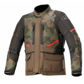 Jacket ANDES DRYSTAR 2021, TECH-AIR 5 compatible, ALPINESTARS (dark green camo / black / red)