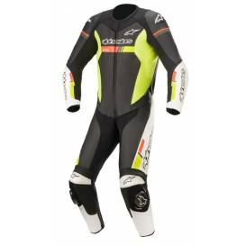 One-piece overalls GP FORCE CHASER 2021, TECH-AIR 5 compatible, ALPINESTARS (black / white / red fluo / yellow fluo)