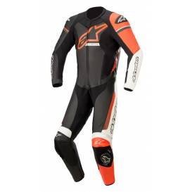 One-piece overalls GP FORCE PHANTOM 2021, TECH-AIR 5 compatible, ALPINESTARS (black / white / red fluo)