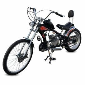 Motorcycle Sunway Chopper Black 80cc 2t