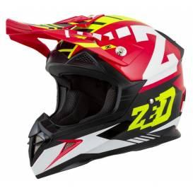 Helmet X1.9D ZED, children (red / yellow fluo / black / white)