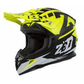 Helmet X1.9D ZED, children (yellow fluo / black / white)
