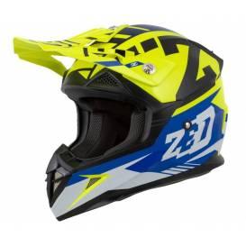Helmet X1.9D ZED, children (blue / yellow fluo / black / white)