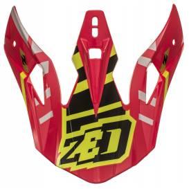 Kšilt pro přilby X1.9 a X1.9D, ZED (červená/černá/žlutá fluo)