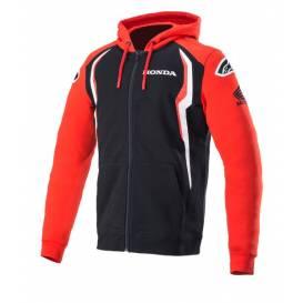 Mikina na zip s kapucí HONDA 2021, ALPINESTARS (červená/černá)