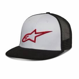 Kšiltovka CORP TRUCKER HAT, ALPINESTARS (bílá/černá/červená)