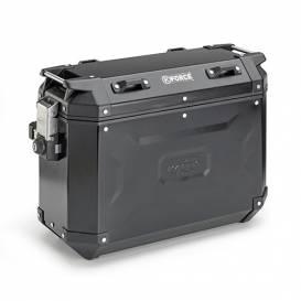 Hliníkový boční kufr-levý, KAPPA (37l, černý)