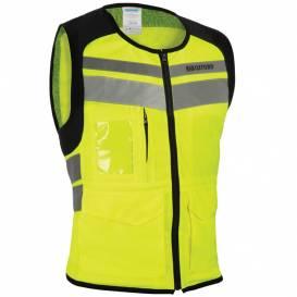 Reflexní vesta UTILITY BRIGHT TOP, OXFORD (žlutá fluo/šedá reflexní/černá)