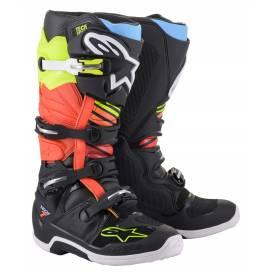 Topánky TECH 7 2022, ALPINESTARS (čierna / žltá fluo / červená fluo)