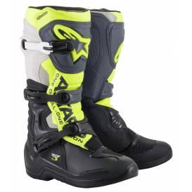 Topánky TECH 3 2022, ALPINESTARS (čierna / sivá / žltá fluo)