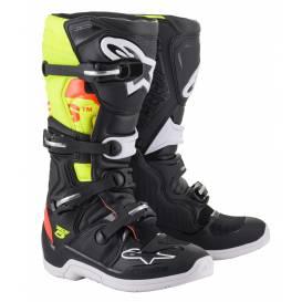 Topánky TECH 5 2022, ALPINESTARS (čierna / červená fluo / žltá fluo)