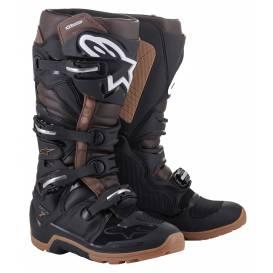 Topánky TECH 7 ENDURO 2022, ALPINESTARS (čierna / tmavá hnedá)