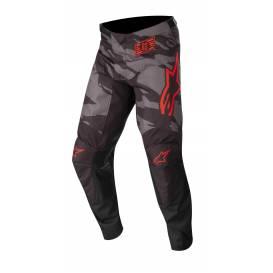 Kalhoty RACER TACTICAL 2022, ALPINESTARS (černá/šedá maskáčová/červená fluo)