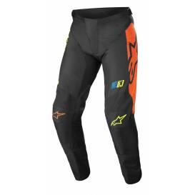 Kalhoty RACER COMPASS 2022, ALPINESTARS (černá/žlutá fluo/korálová)