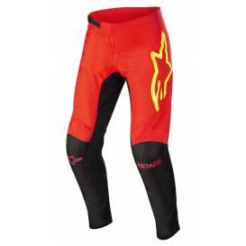 Kalhoty FLUID TRIPPLE 2022, ALPINESTARS (černá/červená fluo/žlutá fluo)