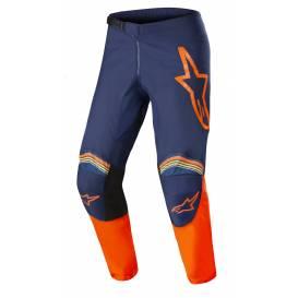 Kalhoty FLUID SPEED 2022, ALPINESTARS (tmavá modrá/oranžová)