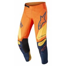Kalhoty RACER FACTORY 2022, ALPINESTARS, dětské (oranžová/tmavá modrá/žlutá)