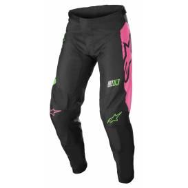 Kalhoty RACER COMPASS 2022, ALPINESTARS, dětské (černá/zelená neon/růžová fluo)