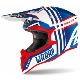 WRAAP YOUTH Broken, AIROH - Italy (glossy blue / white / red) 2021