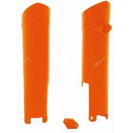 Chraniče vidlic KTM, RTECH - Itálie (oranžové, pár)