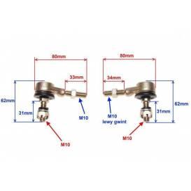 Čepy tyčky řízení 110/125cc -  typ 2