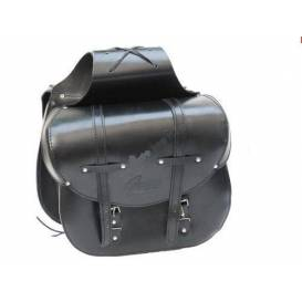 Side leather bags for the Sunway SW1 motorcycle