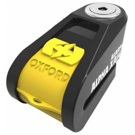 Disc brake lock Alpha Alarm XA14, OXFORD (integrated alarm, yellow / black, pin diameter 14 mm)