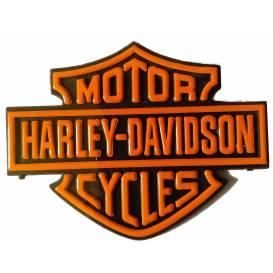 Samolepka 3D Harley Davidson - oranžová
