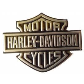 Samolepka 3D Harley Davidson - stříbrná